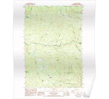 USGS Topo Map Washington State WA Dole 240874 1986 24000 Poster