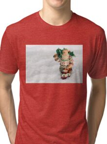 Father Christmas Old Fashioned in Snow Tri-blend T-Shirt