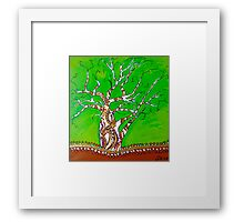 Boab Green Framed Print