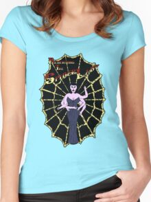 Spider Lady's Web (Stickers and Light Shirts) Women's Fitted Scoop T-Shirt