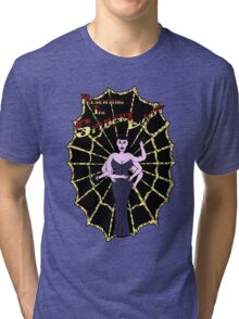 Spider Lady's Web (Stickers and Light Shirts) Tri-blend T-Shirt