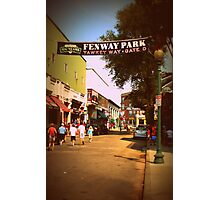 Yawkey Way, Fenway Park Photographic Print