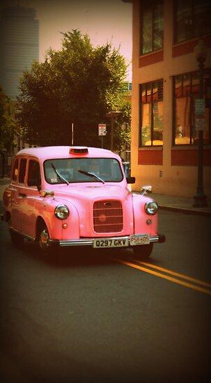 Pink Taxi Cab, Boston by Amanda Vontobel Photography
