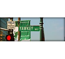 Yawkey Way Street Sign, Fenway Park Photographic Print
