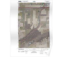 USGS Topo Map Washington State WA Ritzville SW 20110401 TM Poster