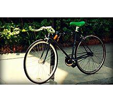 Green. Bike. Boston. Photographic Print