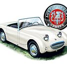 Austin Healey Bugeye Sprite in White by davidkyte