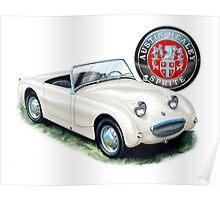 Austin Healey Bugeye Sprite in White Poster
