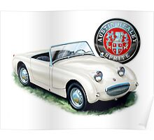 Austin Healey Bugeye Sprite in White Poster