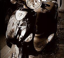 Black Buddy, Vespa Scooter, Boston by Amanda Vontobel Photography/Random Fandom Stuff