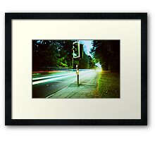 Speed Trails  Framed Print