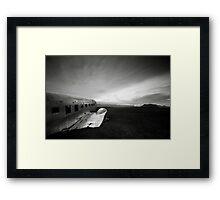 Iceland: Plane Wreck II Framed Print