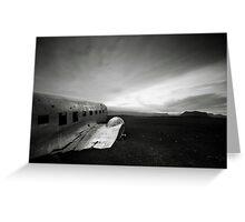 Iceland: Plane Wreck II Greeting Card