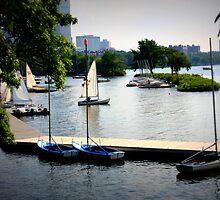 Charles River, Harbor, Boston by Amanda Vontobel Photography