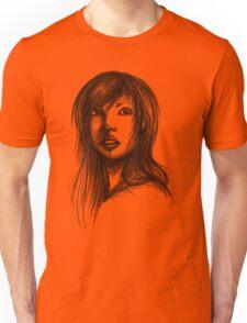 Beautiful Woman Artist Pencil Sketch 2 Unisex T-Shirt