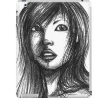 Beautiful Woman Artist Pencil Sketch 2 iPad Case/Skin