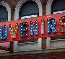 Souvenirs Old Timey Signage  by Amanda Vontobel Photography