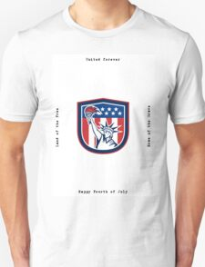 Independence Day Greeting Card-Statue of Liberty Holding Torch T-Shirt