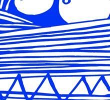 BLUE MUM T-SHIRT , CLASSIC LOGO#02 Sticker
