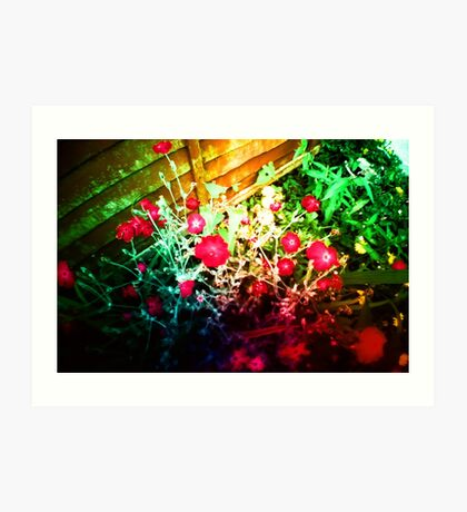 Hallucination Flowers Art Print