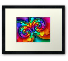 Rainbow Mask Framed Print