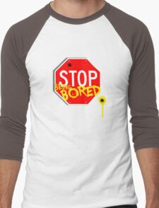Stop Being Bored Men's Baseball ¾ T-Shirt