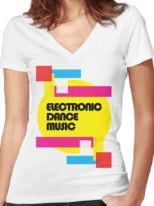 Electronic Dance Music (colorship) Women's Fitted V-Neck T-Shirt