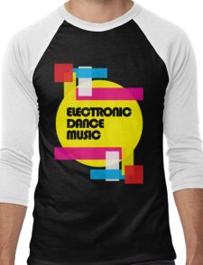 Electronic Dance Music (colorship) Men's Baseball ¾ T-Shirt
