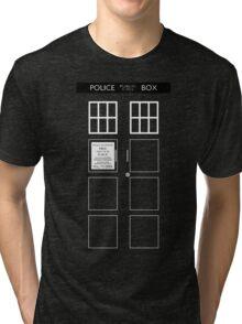 TARDIS Front Tri-blend T-Shirt