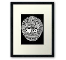MUM BLACK/WHITE LOGO T-SHIRT Framed Print