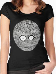 MUM BLACK/WHITE LOGO T-SHIRT Women's Fitted Scoop T-Shirt