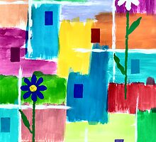 FLOWERS ON ABSTRACT by RainbowArt