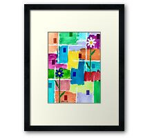 FLOWERS ON ABSTRACT Framed Print