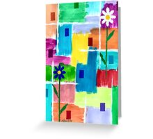 FLOWERS ON ABSTRACT Greeting Card