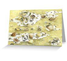SHELLS ON THE BEACH Greeting Card
