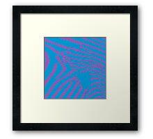 Blue Zebra Framed Print
