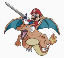 Mario x Charizard Kids Clothes