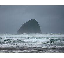 Stormy Seas at Haystack Rock Photographic Print