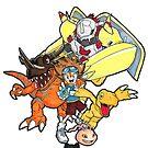 Digimon Agumon Evolution  by Chris Stokes