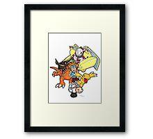 Digimon Agumon Evolution  Framed Print