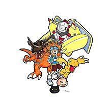 Digimon Agumon Evolution  Photographic Print