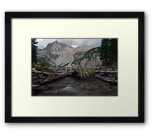 Snowmass Lake in August Framed Print