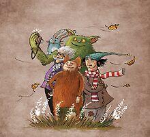 autumn friends by MrLone