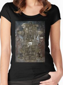 Steampunk Space Transport Women's Fitted Scoop T-Shirt
