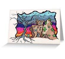 twisted tree santa fe house Greeting Card