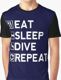 Eat - Sleep - Dive - Repeat Graphic T-Shirt