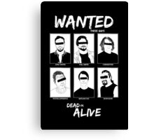 Wanted Grunge Icons Canvas Print