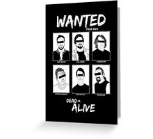 Wanted Grunge Icons Greeting Card
