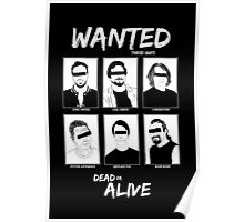 Wanted Grunge Icons Poster