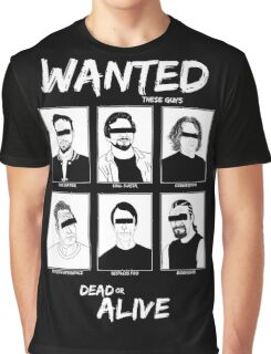 Wanted Grunge Icons Graphic T-Shirt